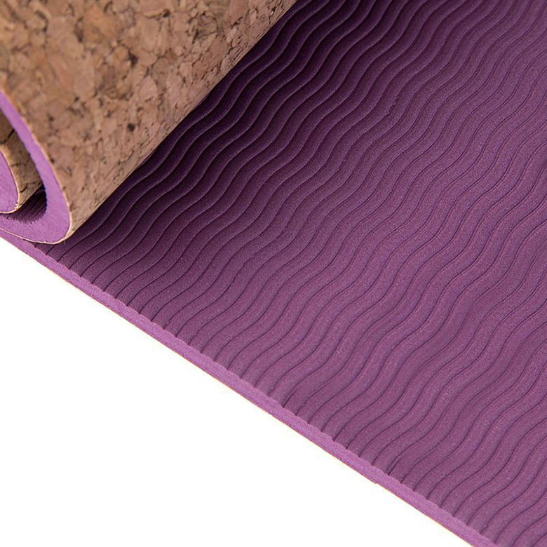 Wholesale Price China Oem Yoga Mat Roll Bulk - NEW design eco friendly  skidproof tpe exercise non toxic cork yoga mat – WEFOAM