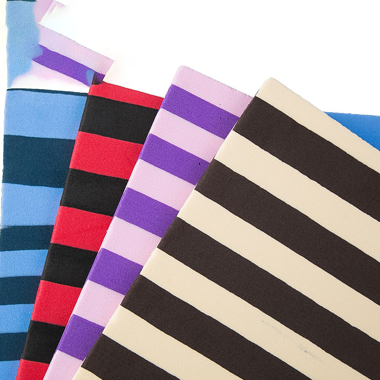 New Delivery for Ladies Outsoles - Stripe printed EVA foam sheets with texture and design for shoes outsole making – WEFOAM
