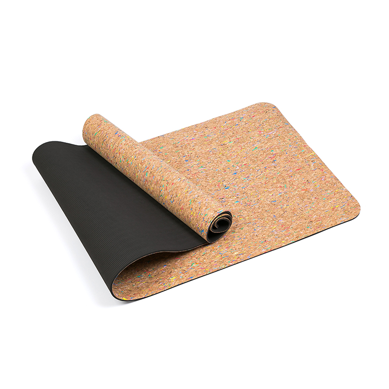 Discountable price High Density Travel Yoga Mat - High quality custom skidproof cork black eco friendly yoga mat with double layer – WEFOAM