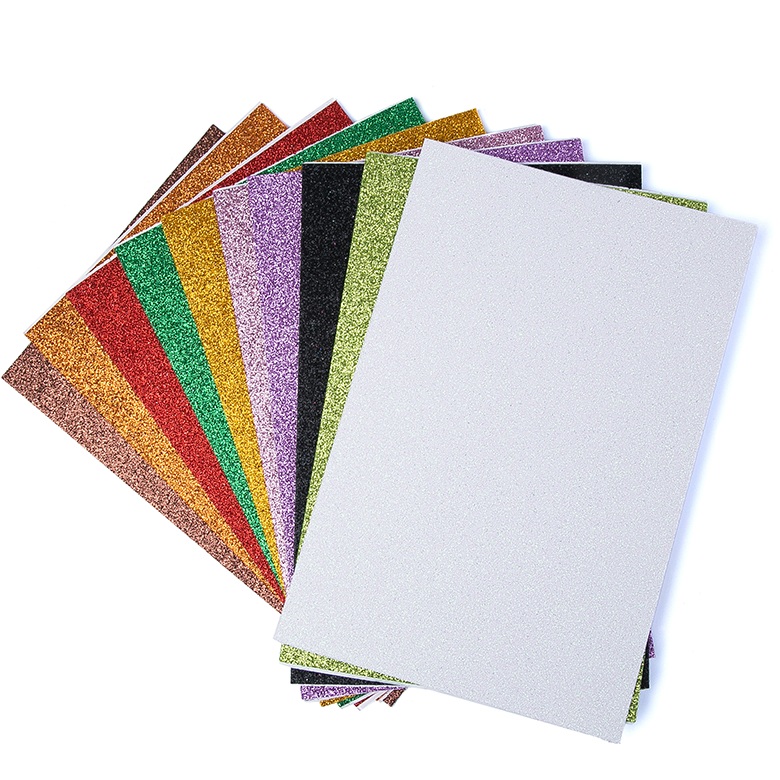 Lowest Price for Eva Foam Sheets - Eco friendly solid color adhesive eva glitter foam sheet – WEFOAM