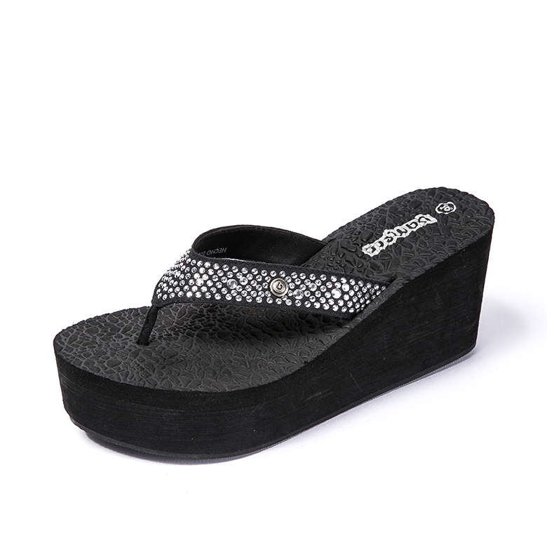 Well-designed V Strap Slippers - 2020 shoes women Ladies Wedge Heels – WEFOAM