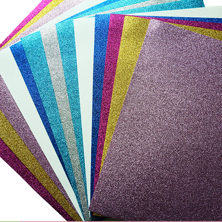 High quality& flexibility eco- friendly material craft plastic sheet hand craft glitter goma eva