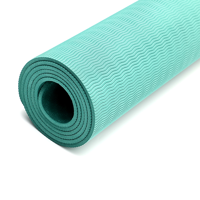 Manufacturer custom folding tpe yoga mat eco friendly yoga mat