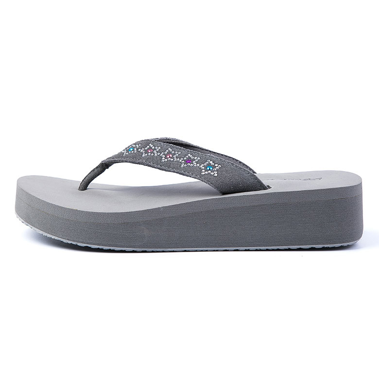 Excellent quality Flat Slippers - China manufacturer new trendy height increasing flip flop slipper for women – WEFOAM