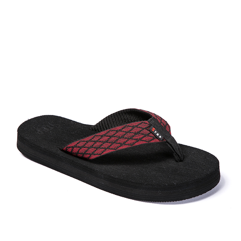 New Arrival China Slipper Pattern - Trendy durable rubber flip flop soft red v strap slippers slides – WEFOAM