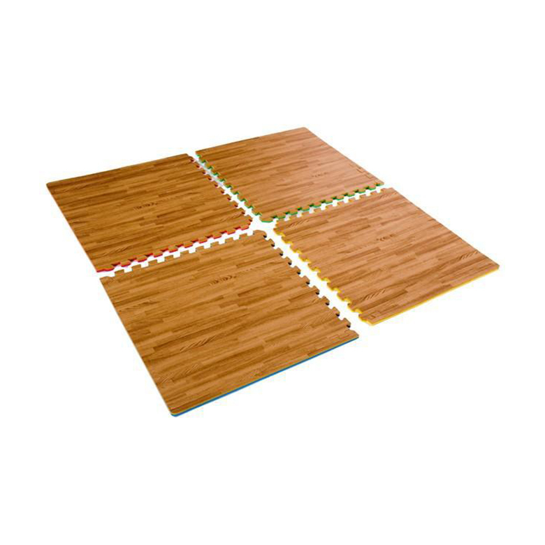 Non-toxic Eco friendly Cushioned Floor Mat foam wood grain eva mat