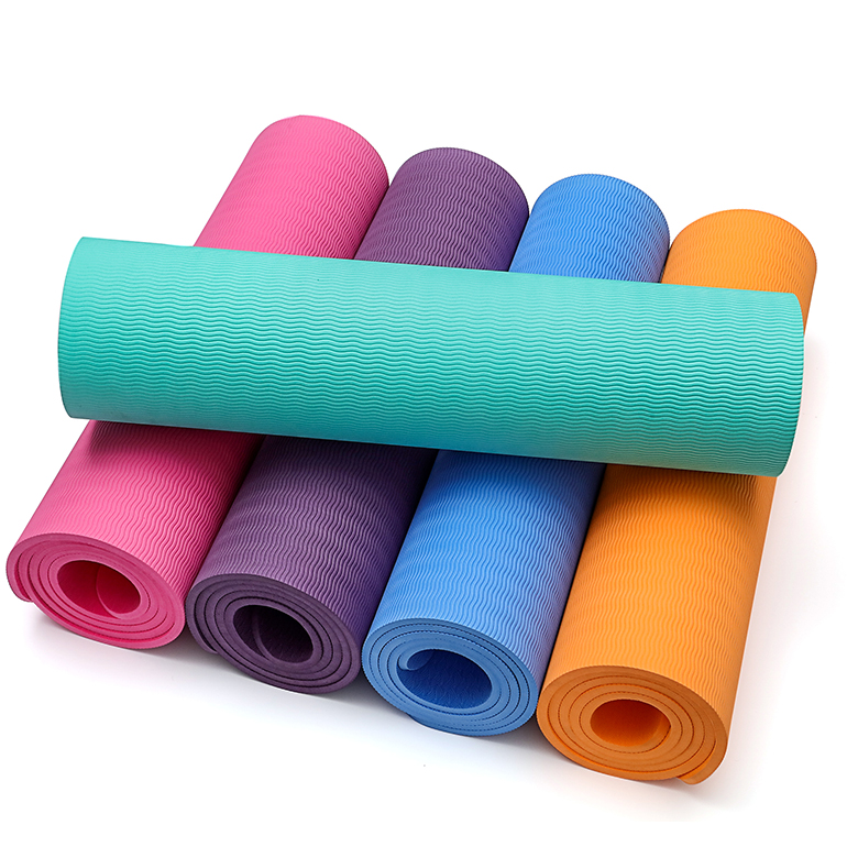 custom 6mm 10mm eco-friendly tpe non slip yoga mat premium quality
