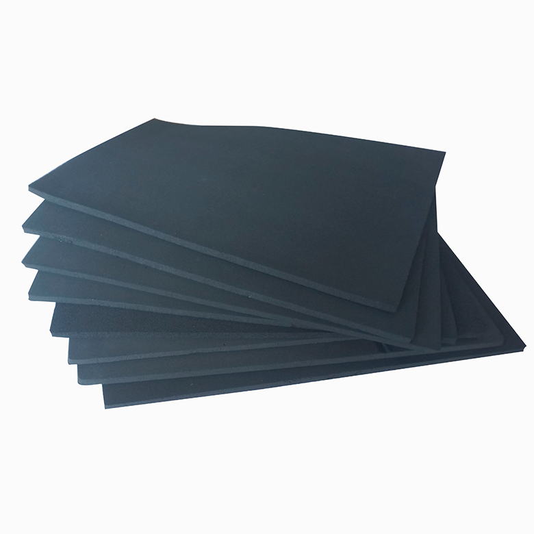Chinese factory direct sales high quality black epdm rubber foam sheet