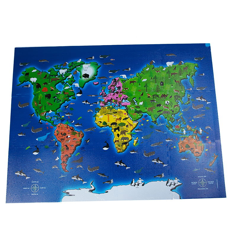 Low price for Kids Animal Foam Puzzle Mat - 2020 Printing world map custom puzzle floor eva foam kids mat – WEFOAM Featured Image