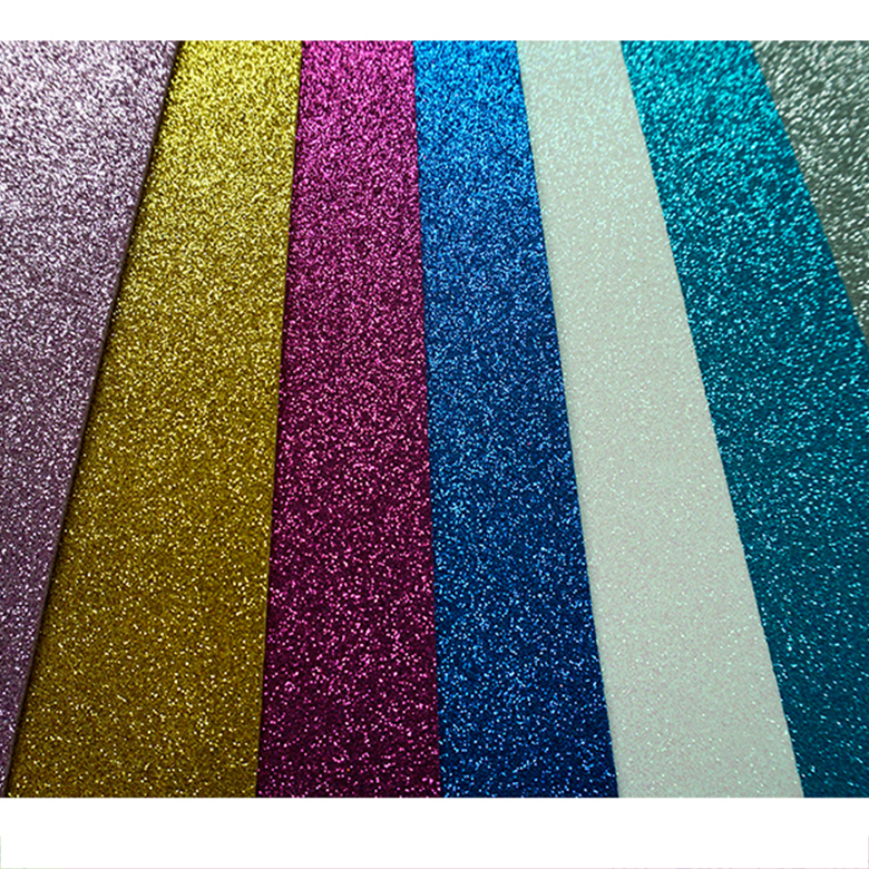 Factory Free sample Eva Shoe Sole Materal - 2mm Thick Colorful Craft Glitter EVA Soft Foam Sheet Thin EVA Paper For Kids DIY Cutting Play House EVA Decoration Glitter Sheet – WEFOAM