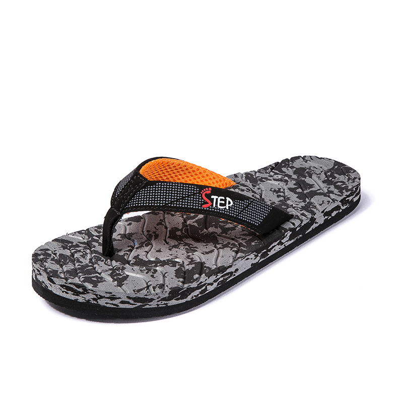 Cheapest Price Women Fancy Slippers - Men's classical light weight embossed sole slippers men eco message flip flops – WEFOAM