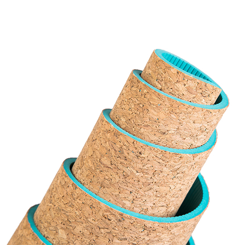 recycled eco friendly high quality cork yoga mat design custom