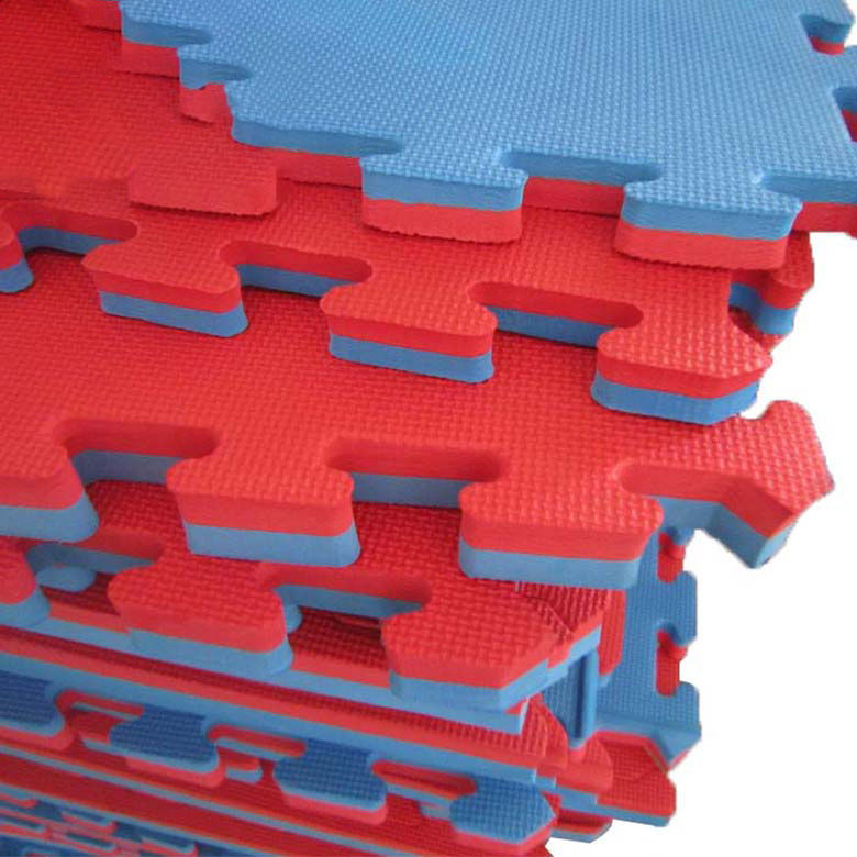 60×60 Wholesale blue and red color interlocking baby eva foam mat