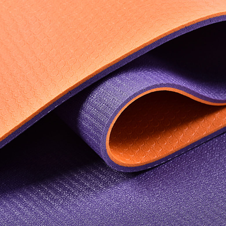 18 Years Factory Eco-Friendly Yoga Mat - Factory cheap price manufacturer high quality comfort double color TPE yoga mat – WEFOAM