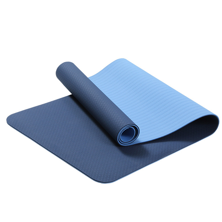 Hot sale skidproof Double layer soft durable tpe exercise premium Double color yoga mat
