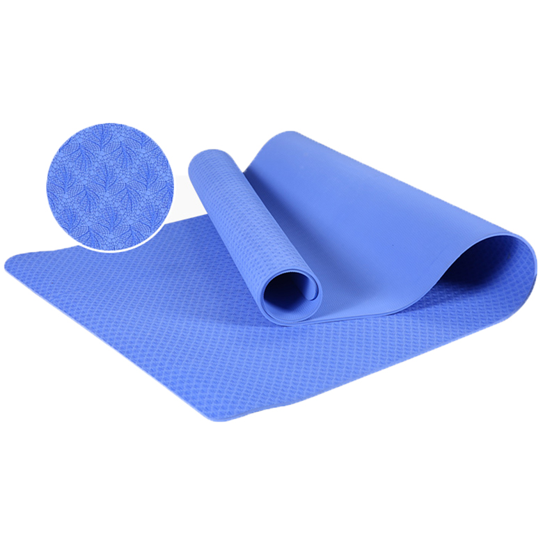 Eco friendly waterproof non slip yoga mat with custom yoga mat with carrying strap