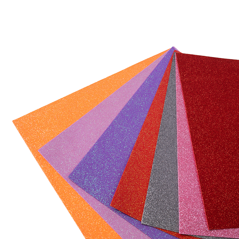 China Cheap price Recycled Shoe Sole - wholesale cheap price colorful self adhesive glitter foam paper sheets  for holiday card crafts – WEFOAM