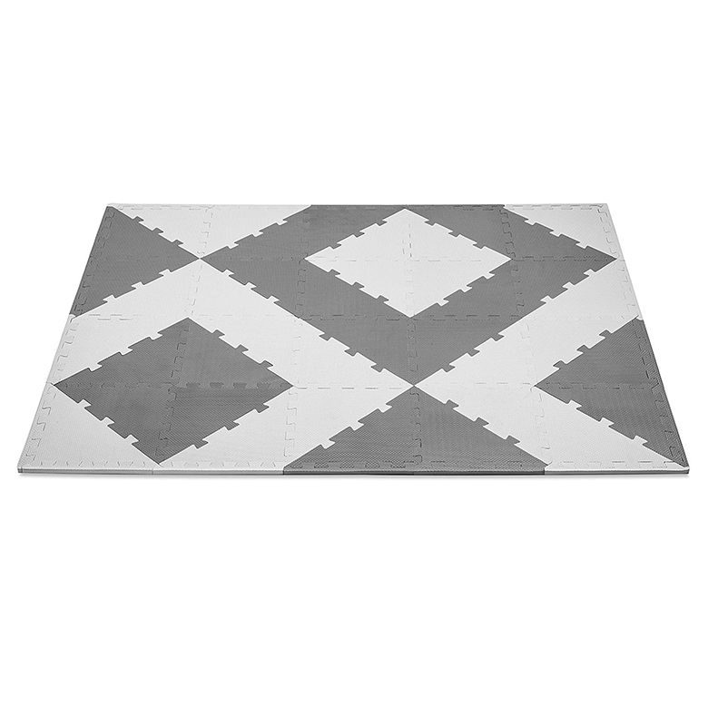 factory direct custom logo triangle thick  anti slip interlocking puzzle non toxic eco-friendly soft  eva foam floor mat