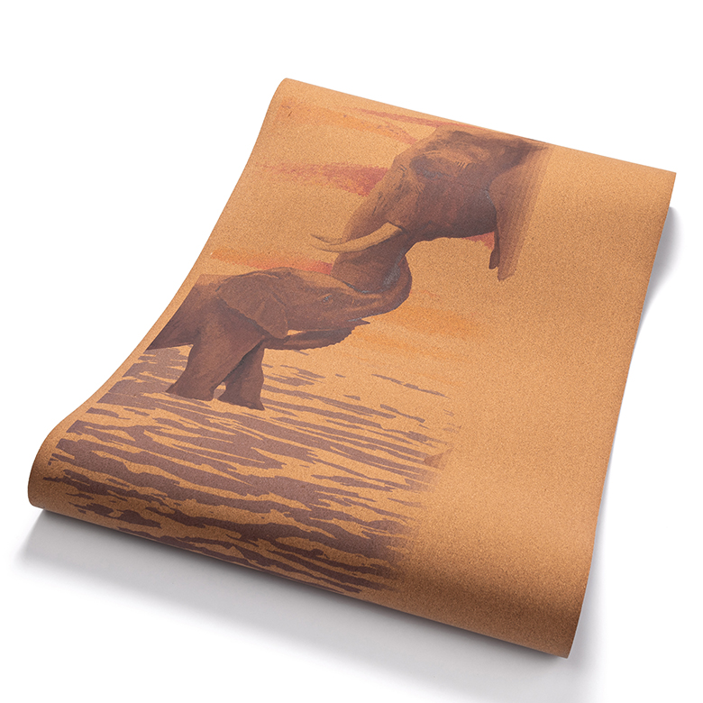 custom printed personalized natural eco friendly thick rubber cork yoga mat