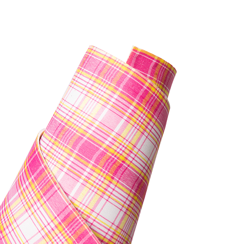 factory direct tartan plaid lavender lilac adhesive back  rubber printed EVA foam handicraft sheets
