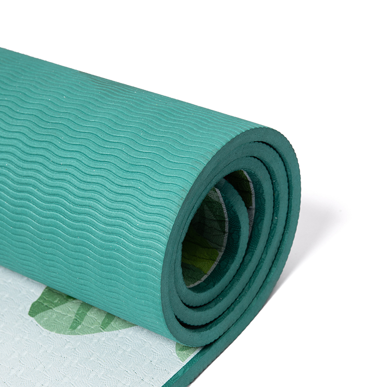 Factory supplied Cork Mat Yoga - 2020 trendy cheap price eco friendly non slip fitness exercise  color  pilates fitness workout  tpe printed yoga mats – WEFOAM