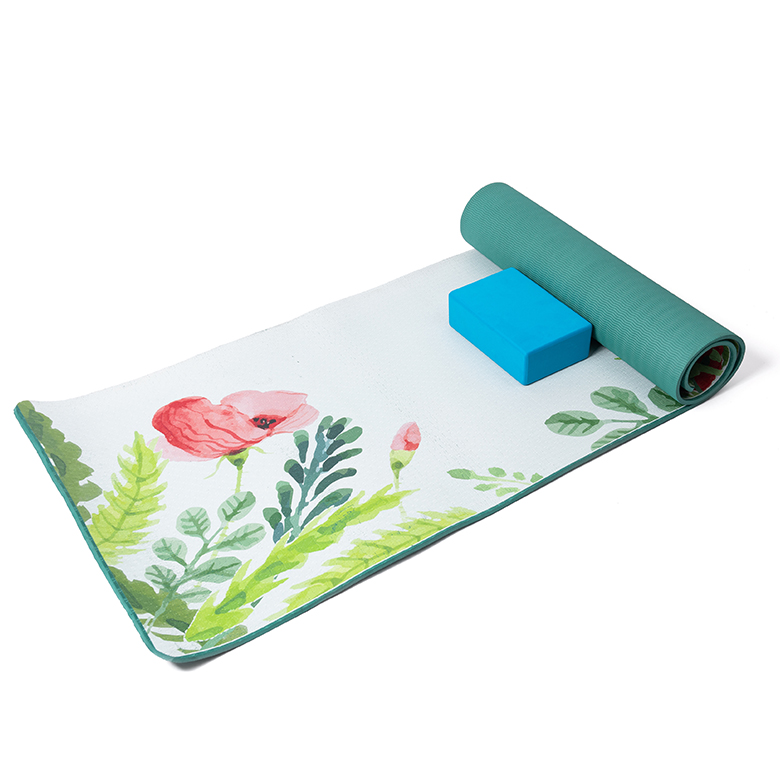 Discount wholesale Travel Yoga Mat - multi color anti fatigue private label double layer flower flora design light weight washable  tpe mat de yoga – WEFOAM