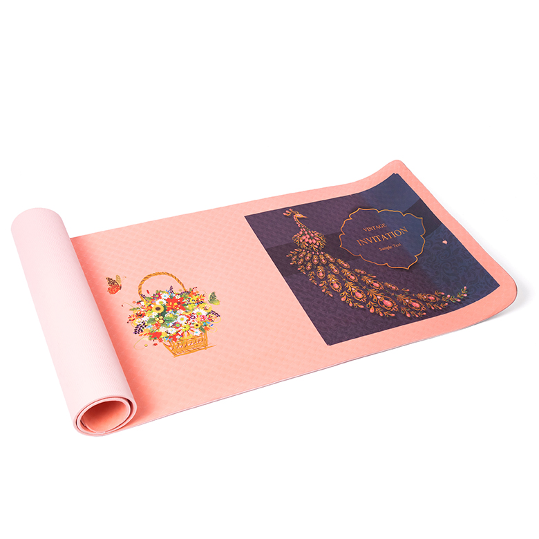 Factory Cheap Hot Anti Skid Eva Yoga Block Brick - factory manufacturer price double layer cheap custom pink print organic eco friendly thick tpe folding yoga mat with strap – WEFOAM