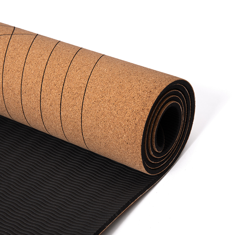 Excellent quality Tpe Custom Yoga Mat Rohs - China vendor odor resistant  eco friendly  laminated concentric circles two  double layer  tpe rubber cork yoga mat – WEFOAM
