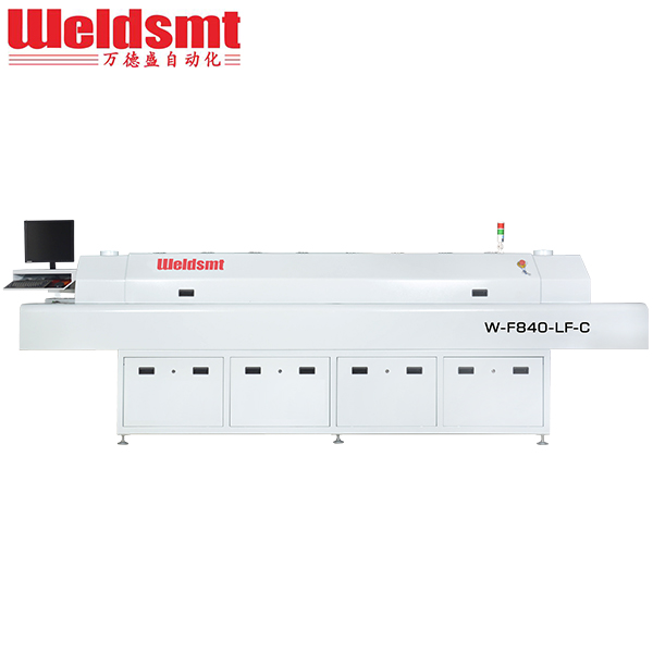 Well-designed Industrial Soldering Techniques - Middle-sized 8 Zones Hot Air Reflow Soldering Machine W-F840-LF-C W-F840-LF – WELDSMT