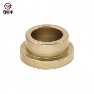 TS16949 Certificated Powder Metallurgy Technology  Bronze Flanged Sleeve Bearings