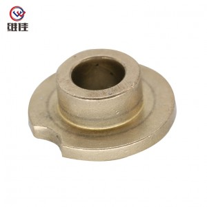 Powder Metallurgy Products Metric Flanged Sleeve Bearing Plastic Made of Copper