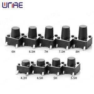 High Performance Audio Jack - 6X6mm Tactile Switch 4pin SMD Momentary Push Button Micro Tact Switch – Weinuoer