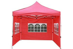 Side-wall fold-up gazebo