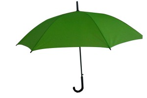 Solid colour promoting straight umbrella