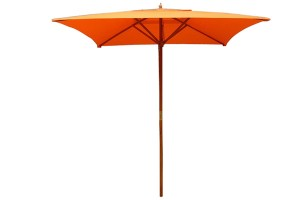Square large solar wood umbrella