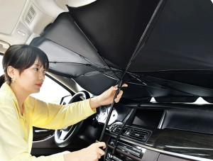 Car front glass fold umbrella