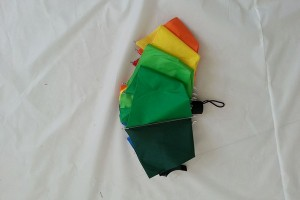 Foldable colourful rainbow umbrella