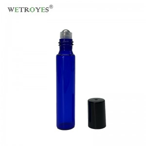 Perfume bottle10ml blue glass deodorant essential oils vials with roller ball