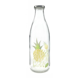1000ml Glass Milk Bottle with 43mm Metal Lids