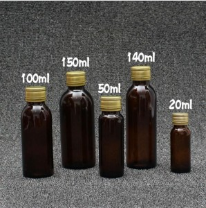 20ml 50ml 100ml 140ml 150ml Pharmaceutical Amber Glass Vials Oral Liquid Bottles