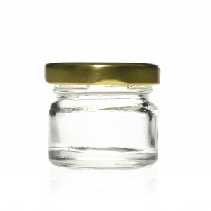 Food Grade 25ml Glass Honey Spice Hot Sauce Jars with Tin Lid