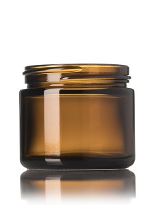2oz Round Amber Glass Straight Side Jar for Candle