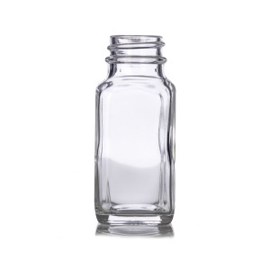 2 OZ 60 ML French Square Glass Bottle for Juice with plastic cap