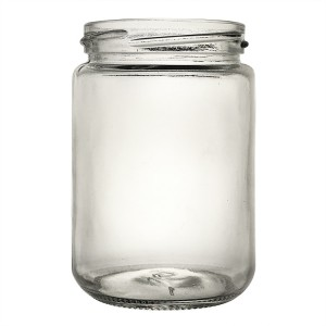 Round Storage Glass Jar with Metal Lids 350ml 12oz