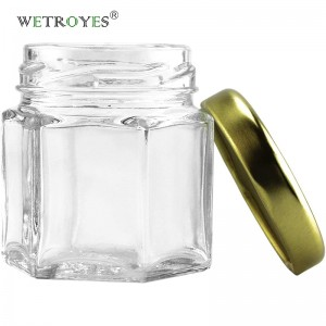 Chinese Professional Glass Mason Jar With Lid - 1.5oz 45ml Hexagon Glass Honey Jar with Lug Cap for Honey Spice – Troy