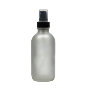 4oz Frosted Glass Boston Round Shape Fine Mist Spray Bottle