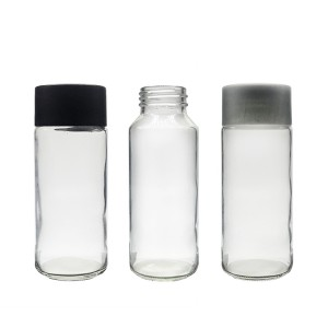 200ml VOSS shape Glass Bottle for Milk Water Use