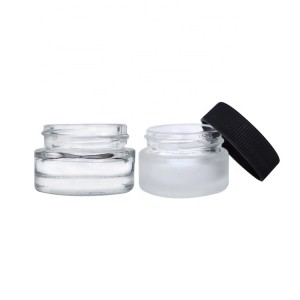 Luxury Empty Sample Glass Jars 5g Refillable Cosmetics Container for Makeup Lip Balm Eye Cream