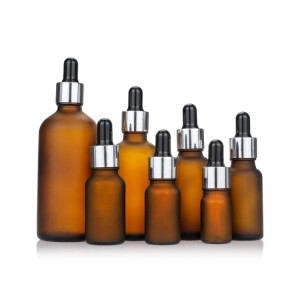 5ml 15ml 20ml 30ml 50ml Glass Dropper Frosted Amber Essential Oil Bottle