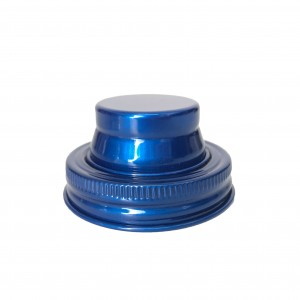 Blue Color Regular Mouth 70mm Stainless Steel Mason Jar Shaker Lid